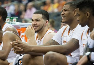 Javan Felix and Cameron Ridley helped Texas build a 30-point second-half lead on West Virginia before taking time to enjoy the benefits.