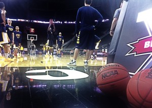 West Virginia staged a shootaround Wednesday morning at the Sprint Center in Kansas City. The sixth-seeded Mountaineers face No. 3-seeded Texas on Thursday night in the Big 12 tournament quarterfinals.