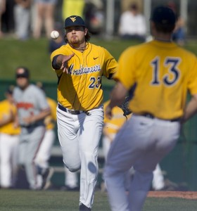 West Virginia's Sean Carley pitched one-run ball over seven innings during Saturday's 9-2 loss to No. 18 Oklahoma State.