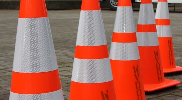 DOH cones will mark the way for construction zones this summer.