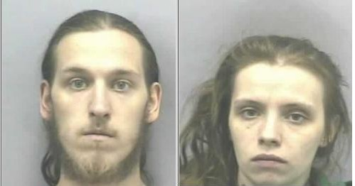 Andrew Hall, 23, and Brittany Edgell, 24, were arrested Monday and charged with felony child neglect resulting in death.