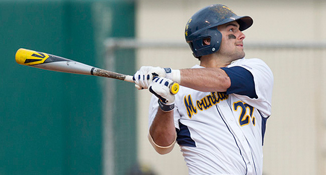 Cameron O'Brien drove in three runs—matching his previous season total—to lift West Virginia over Pitt 6-4 on Tuesday.