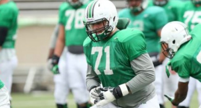 Marshall junior Sebastian Johansson shifted to left tackle this spring.