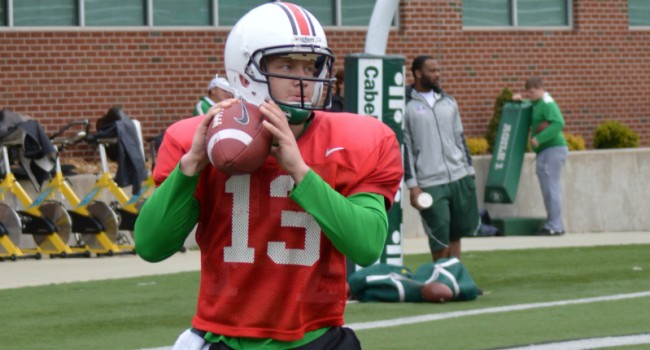 Redshirt freshman Cole Garvin, fourth on the depth chart after Marshall's spring practice, plans to transfer.
