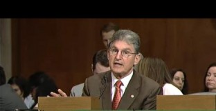 U.S. Senator Joe Manchin was recognized to speak after the committee passed the bill Thursday.