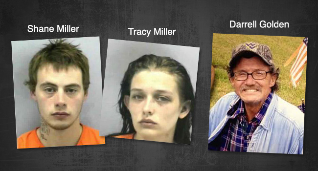 Shane and Tracy Miller are in jail charged in the murder of Darrell Golden.