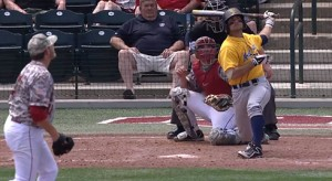 Cam O'Brien launches a three-run homer in the sixth inning Saturday when West Virginia reeled off nine unanswered runs in a 9-5 comeback victory at Oklahoma.