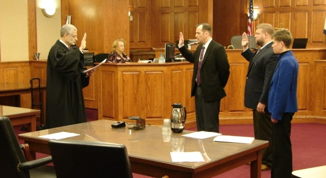 A new team of prosecutors took the oath of office Thursday in Kanawha County. Members will handle domestic cases filed by Charleston police.