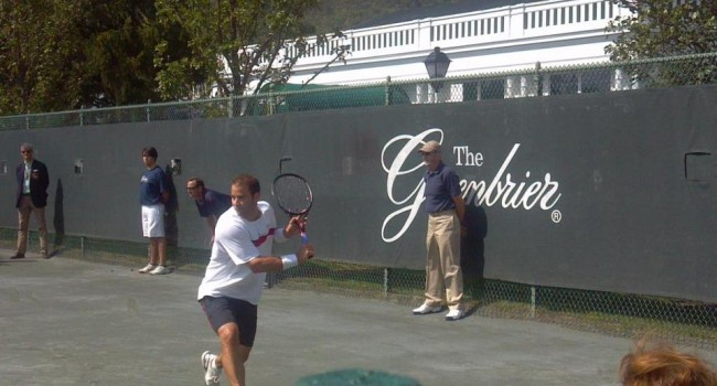 Pete Sampras has played at The Greenbrier Resort for the past two years.