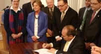 Gov. Earl Ray Tomblin signed the Water Protection Act into law April 1.