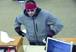 Wheeling police say this man held up the Chase Bank on Market Street Friday.