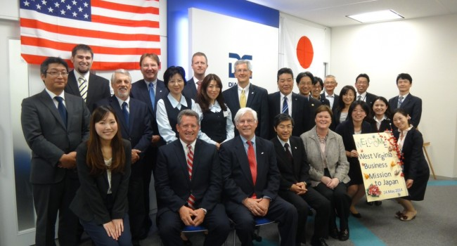 State Commerce Secretary Keith Burdette (third from left) and the rest of the West Virginia delegation have met with Diamond Electric and other Japanese companies in West Virginia during the past week.