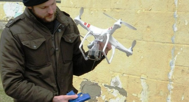 This is one of the drones being used in training this week at the old state prison in Moundsville.