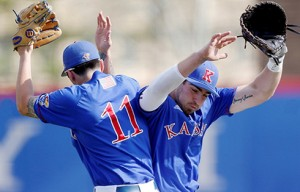 Kansas beat West Virginia 5-2 on Saturday for its second win of the series and eighth consecutive Big 12 victory overall.