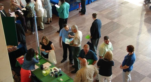 Seventeen state agencies took part in Wednesday's job fair in Charleston.