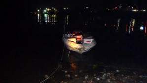 Aftermath after this boat struck a barge on the Kanawha River Sunday night.