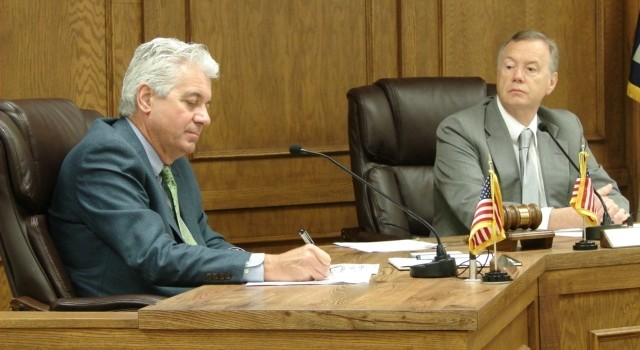 Kanawha County Commissioner Dave Hardy (left) once again called for ...