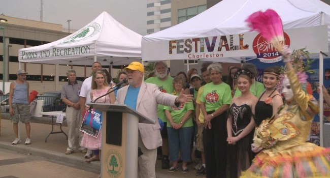 FestivALL Director Larry Groce kicked off the event Friday evening in Charleston.