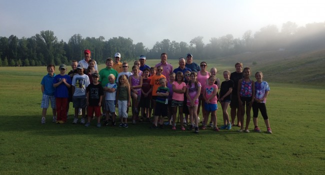 30 kids of military families are taking part in the First Tee program this week at Coonskin Park in Charleston.