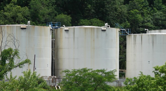 The state had no law regulating storage tanks like these at Freedom Industries when the 2014 spill occurred.