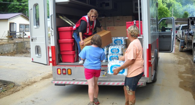 The Red Cross has handed out 2,000 meals and over 10,000 snacks in the Panther area of McDowell County following last Thursday's flash flood.