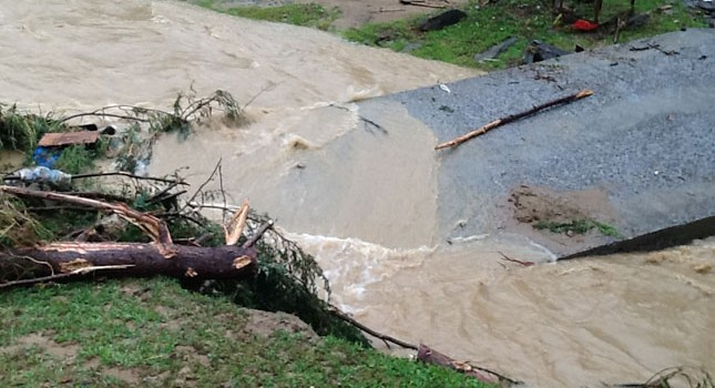 Several bridges were wiped out in a Thursday morning flash flood.