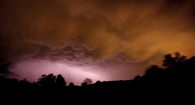 The sky had this threatening look near Elkins Tuesday night.