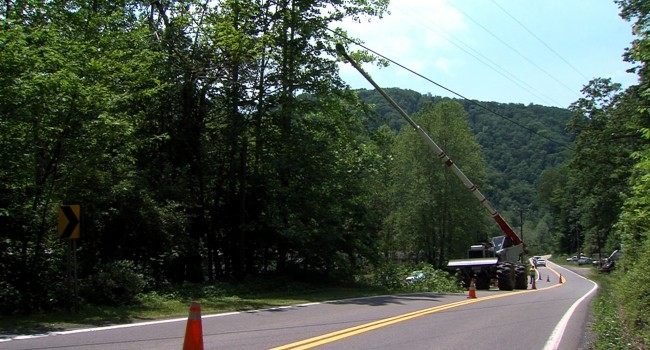 Line clearance was taking place last week along Route 39 in Nicholas County.