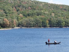 Fishing Deep Creek Lake can be a cool down from what you're normally used to in the summertime
