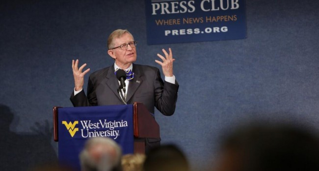 WVU President E. Gordon Gee says there's no place he'd rather be than Morgantown.