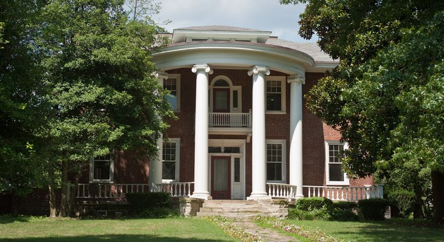 The Holly Grove mansion was built in 1815 by saltmaker Daniel Ruffner.
