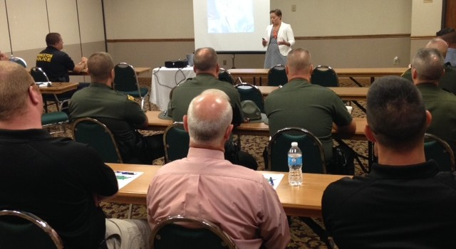 Police officers from across southern West Virginia were in a classroom setting Tuesday learning more about how to battle meth labs.