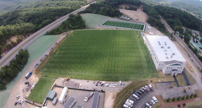 The training facility for the New Orleans Saints at The Greenbrier Resort did not exist as recently as a few months ago.