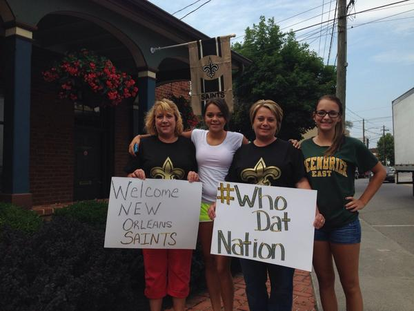 WV MetroNews Saints receive big welcome in Greenbrier County - WV