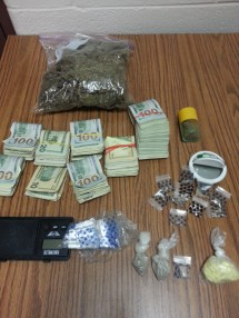 Items seized during the raid