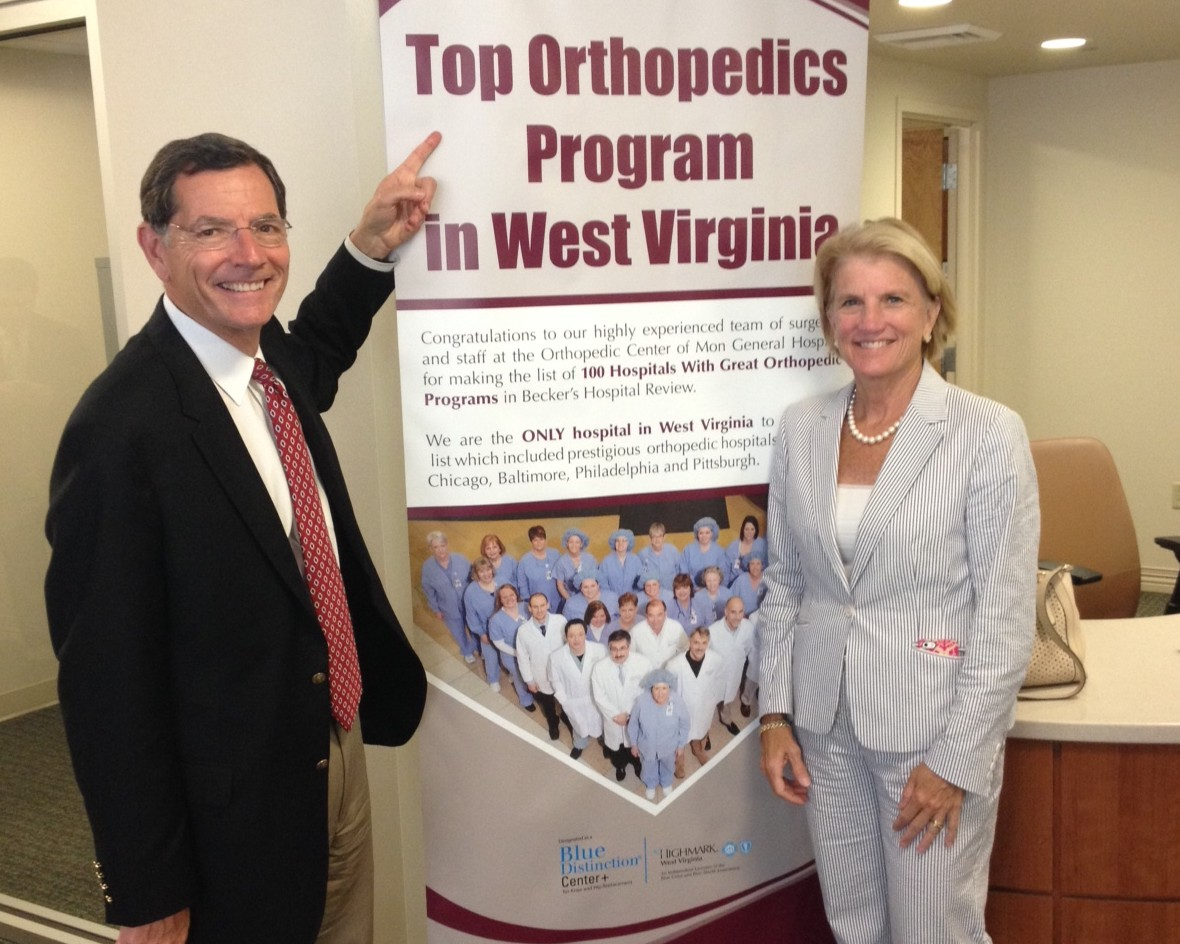 Wyoming U.S. Senator John Barrasso joined Congresswoman Shelley Moore Capito at Mon General Hospital in Morgantown Wednesday.