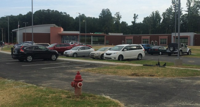 The grass and everything else is all new at Edgewood Elementary in Charleston.