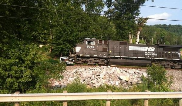 This is the Norfolk Southern train involved in Tuesday's accident.