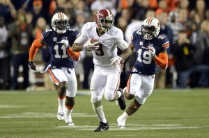 Alabama receiver Amari Cooper dropped from 59 catches and 11 touchdowns as a freshman to 45 catches and four TDs as a sophomore despite a similar number of targets.