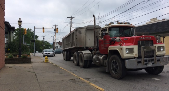 Morgantown City Council will appeal a circuit court ruling that the city cannot ban trucks like this from traveling through its downtown.