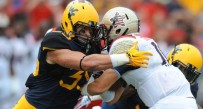 Nick Kwiatkoski made a team-high 12 stops in West Virginia's 40-37 win at Maryland.