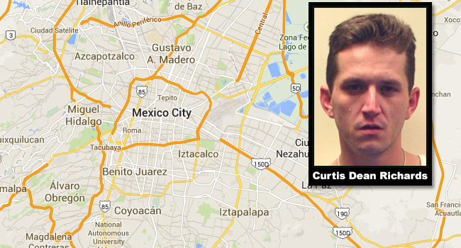 Curtis Dean Richards, II, of St. Marys was arrested this week in Mexico City.