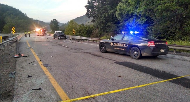 The vehicle rolled on I-77 claiming the life of a man and sending the female driver to the hospital