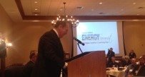 Governor Tomblin speaks to the crowd to close out the Energy Summit