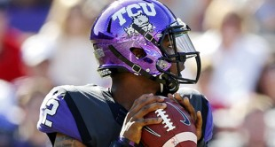 TCU  quarterback Trevone Boykin threw for seven touchdowns against in an 82-27 win over Texas Tech in Fort Worth.