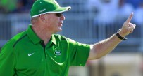 Thundering Herd head coach Doc Holiday during the third quarter against the Old Dominion Monarchs at Foreman Field.