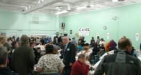The crowd gathers at the Earl Wilson Community Thanksgiving Dinner