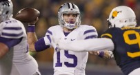Kansas State quarterback Jake Waters passes the ball against WVU.