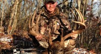 Chad Scyphers with the massive 12 point buck he killed Nov. 18 in McDowell Co