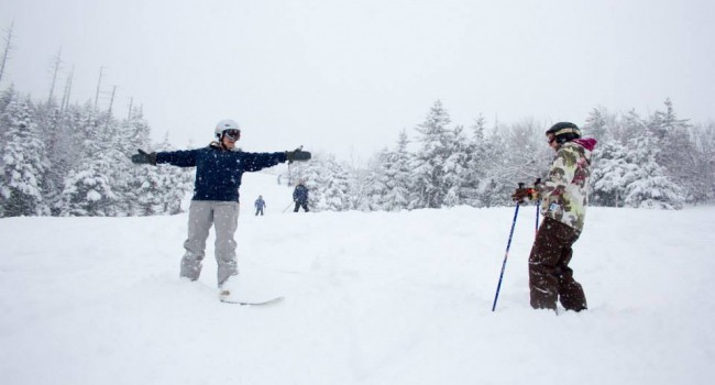 Snowshoe Mountain officials said 12 in. of snow fell on Wednesday's Opening Day.